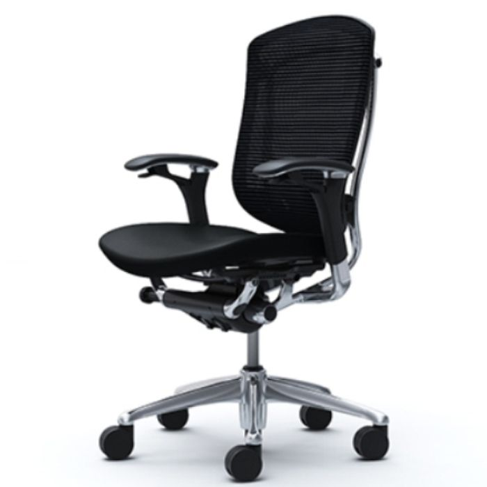 CONTESSA 2 Black Leather Seat Chair
