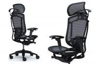 Contessa Seconda Full Black Mesh Black Frame Chair