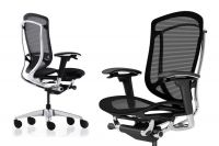 Okamura Contessa Seconda Full Black Mesh Polished Chair