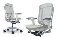 Кресло OKAMURA CONTESSA 2 Белый Каркас Светло-серая Ткань