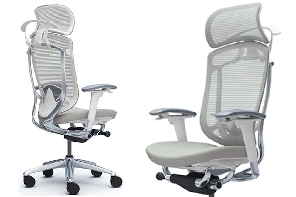 Okamura Contessa Seconda Light Grey Cushion White shell