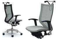 OKAMURA CP Silver frame Grey cushion seat