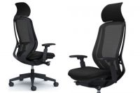 OKAMURA SYLPHY Black Base Black Mesh Chair