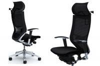 OKAMURA CP Polished frame Black Cushion Seat