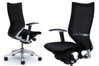 Кресло OKAMURA CP Рама полированная Ткань Черная