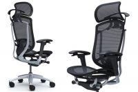 Židle OKAMURA CONTESSA SECONDA Stříbrný rám Černá síťovina