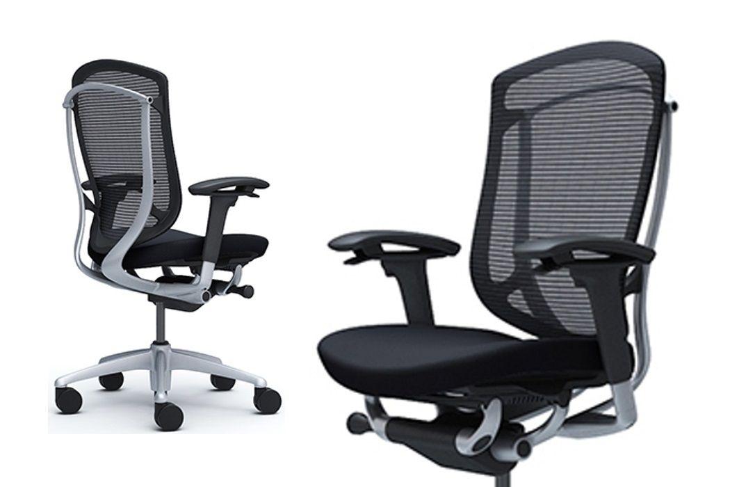 Židle OKAMURA CONTESSA SECONDA Stříbrný rám Černá látka bez Podhlavníka