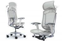 Кресло CONTESSA 2 Светло-серая сетка Белый каркас