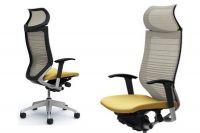 Кресло OKAMURA CP Градуированная Сетка white Сиденье beige
