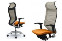 Кресло OKAMURA CP Градуированная Сетка white Сиденье orange