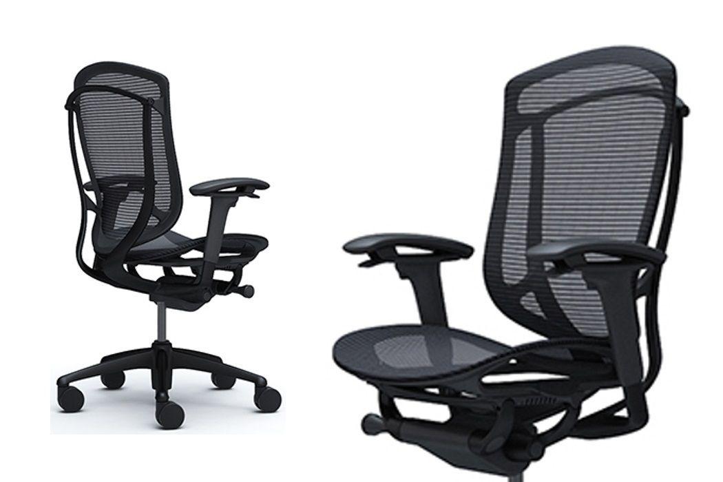 Židle OKAMURA CONTESSA SECONDA Černý rám Černá síťovina